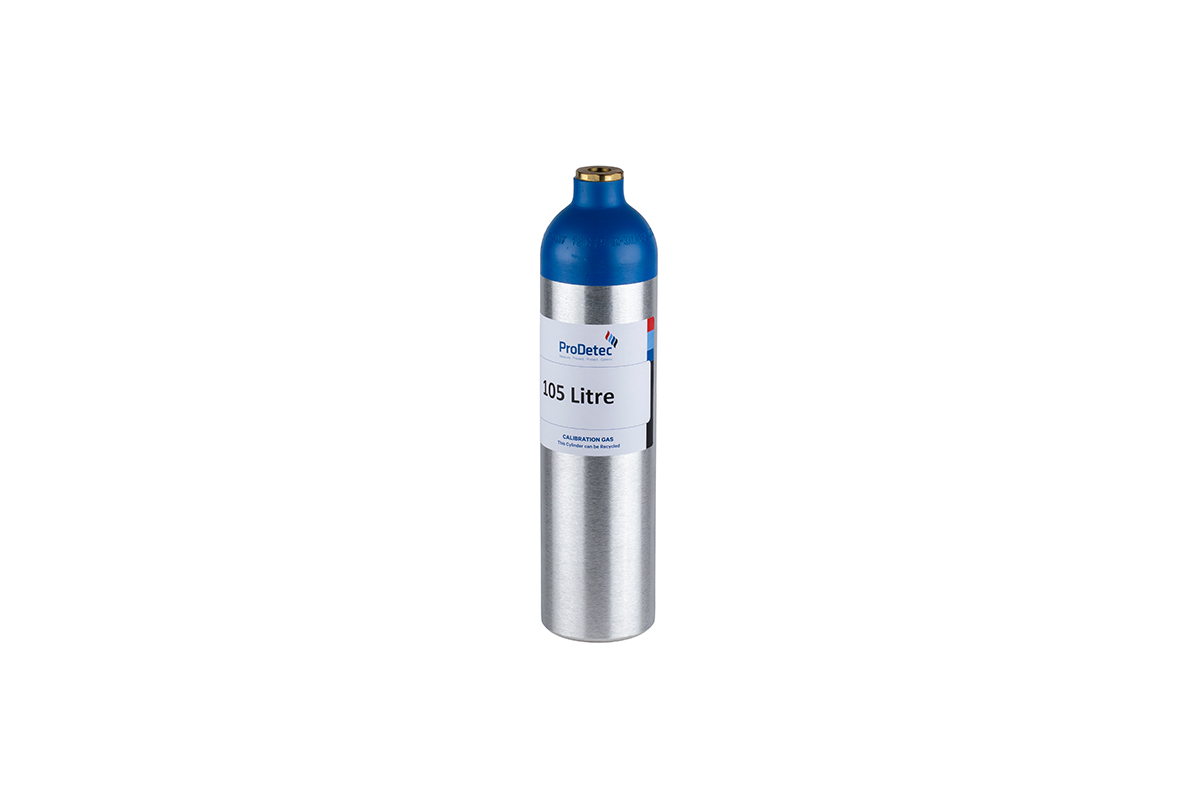 105 Litre Aluminium Recyclable Reactive Single Gas Calibration Gas Cylinder